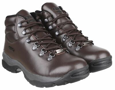 Hi-Tec Eurotrek Waterproof WP Walking Hiking Book Mens Dark Brown UK Size 8