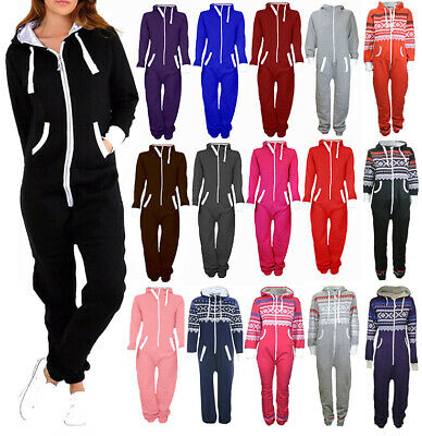 *SALE* New Unisex Kids Adults All in One 1Onesie Hooded Fleece Playsuit Jumpsuit