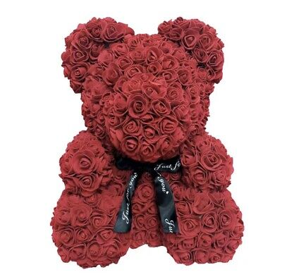 """Rose Flower Teddy Bear 15""""Perfect For Valentines Day And Mothers"""