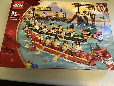 Lego 80103 Dragon Boat Race Includes 15 Minifigures New