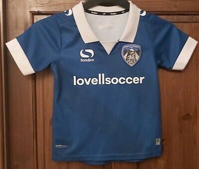 """Sondico Oldham Athletic home shirt 2018/19 size on tag 5-6 year approx 26"""" chest"""
