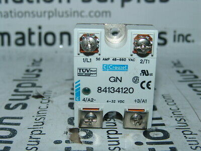 Crouzet solid state realy 10 amps control voltage 4-32Vdc 36-580vac SSR