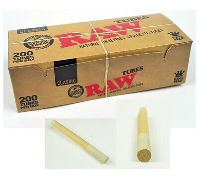 2x Box RAW Classic Cigarette Tube KING SIZE 400 Tubes Total Natural (not cones)