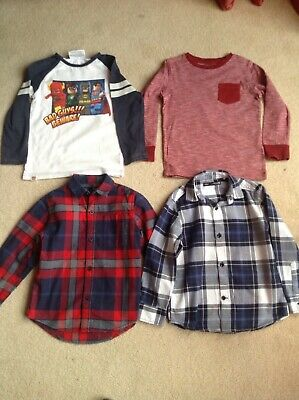 Boys NEXT Bundle 4 x Long-Sleeved Shirts & Tops Age 4 Years Height 104cm