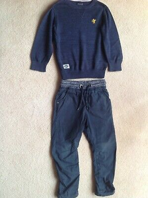 Boys NEXT Bundle Navy Blue Jumper & Trousers Age 4 Years Height 104cm