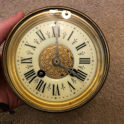Antique Clock Mechanism Including Face - Unknown Condition