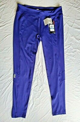 Girls Under Armour Heat Gear Leggings Youth XL Blue. NWT. MSRP $34.99