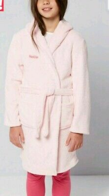 Girls Super Soft Hooded Fleece Dressing Gown age 10-11 NEW