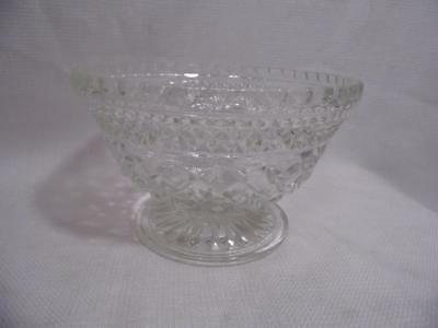 vintage Anchor Hocking Glass WEXFORD pattern COMPOTE Dish candy serving bowl