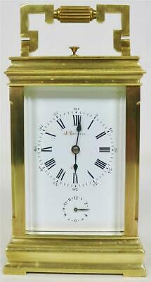 Luxury Antique French Jules Brunelot 8Day Striking Repeater Alarm Carriage Clock