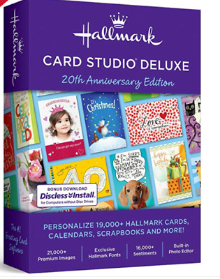 Hallmark Card Studio 2019 Deluxe Software gift and greeting Cards /Preactivated