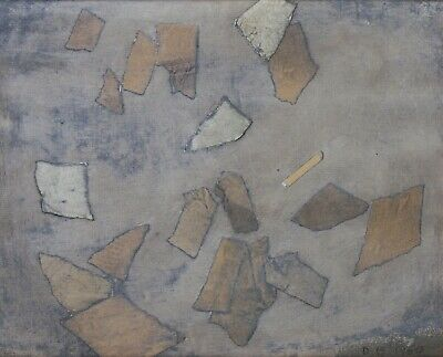 New York Abstract Expressionist Painting by Donald Berry (1930-2008) Dated 1960