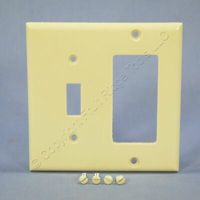 Eagle Ivory Decorator GFCI Switch Receptacle Thermoset Switchplate Cover 2153V