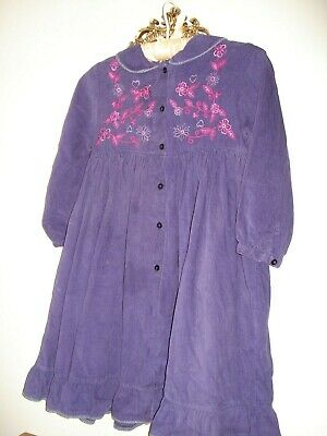 Girls Principles for Kids Purple Corduroy Smock Dress Aged 7 Years