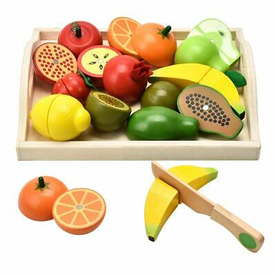 CARLORBO Wooden Toys Pretend Play Food for Children Kitchen,Role play Magnetic F