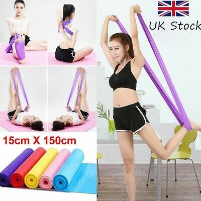 Pilates Stretch Straps Physio Gym Yoga Exercise UK Elastic Resistance Bands