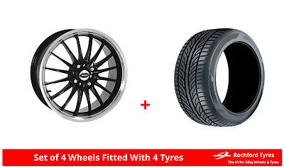 "Alloy Wheels & Tyres 15"" Team Dynamics Jet For Ford Sierra 82-93"