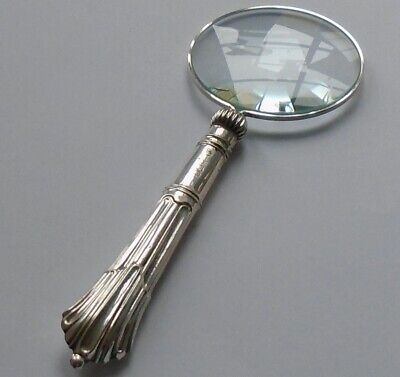 John Biggin HM Silver Handle Magnifying Glass Sheffield 1912 George V