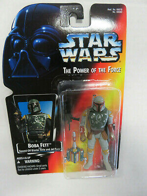 "STAR WARS Power of the Force - BOBA FETT 3.5"" Figure HALF CIRCLE Variant Kenner"