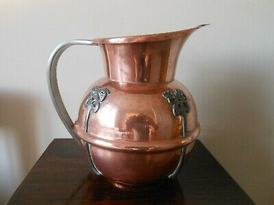 Arts & Crafts Art Nouveau Copper and Pewter Water Jug
