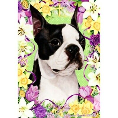Easter House Flag - Boston Terrier 33032