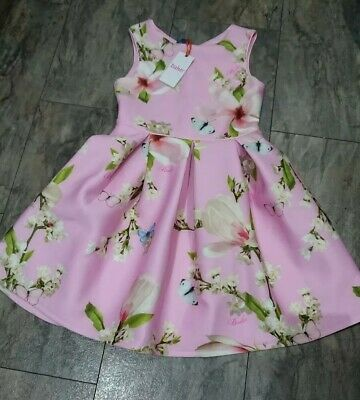 Girls Ted Baker pink dress Age 12 new with defect zip broken