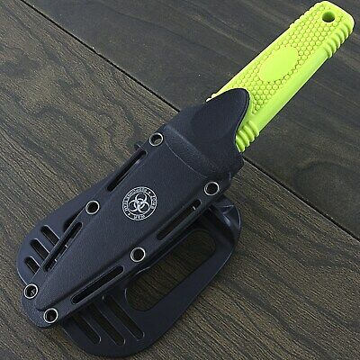 """7.75"""" ZOMBIE WAR GREEN BOOT KNIFE WITH SHEATH Survival Fixed Blade Tactical"""