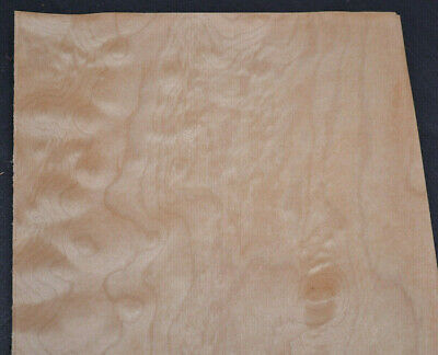 Quilted Maple Raw Wood Veneer Sheets 6.5 x 35 inches 1/42nd thick        4496-44