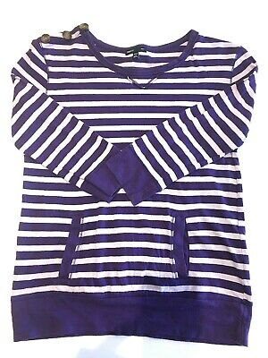 Gap Kids Girls Striped T shirt XL Age 12-13 Years long sleeved pockets casual