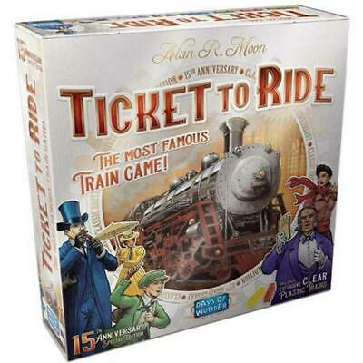 Ticket to Ride 15th Anniversary Special Edition Board Game - Days Of Wonder Free