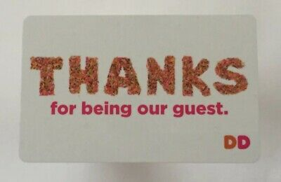 2018 Dunkin Donuts Gift Card. THANKS. Limited Edition. Mint. Worldwide shipping
