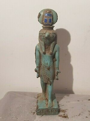 Rare Antique Ancient Egyptian Statue God Horus falcon Protection scar1830-1750BC