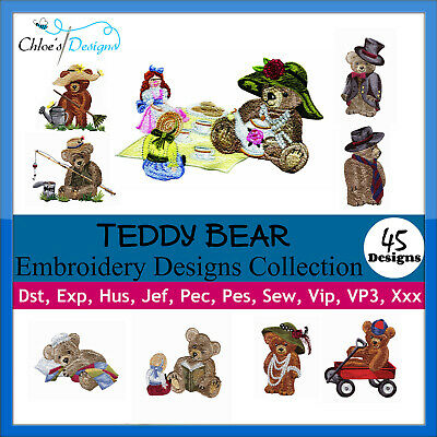 Teddy Bear Collection Machine Embroidery Designs On Cd Or Usb Pes Jef Brother