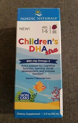Nordic Naturals Children's DHA Xtra, Omega-3, Berry, 2 oz, 09/20