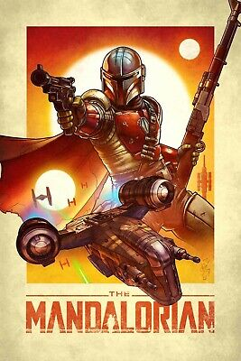Star Wars The Mandalorian poster (i)  -  11 x 17 inches - Star Wars poster