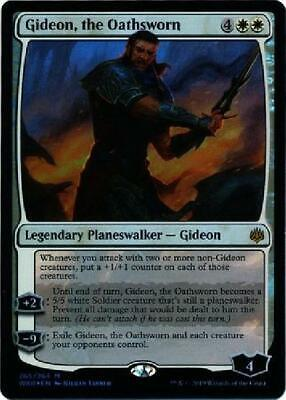War of the Sp Gideon 1x x1 the Oathsworn Foil Planeswalker Deck Exclusive