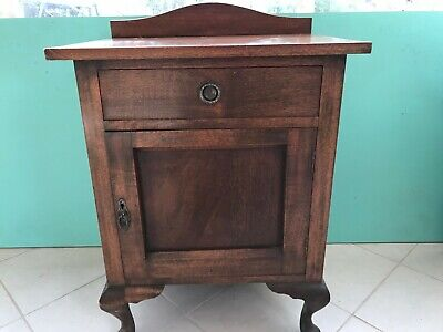 Bedside pot cabinet Australian vintage antique, there are two but not matching.
