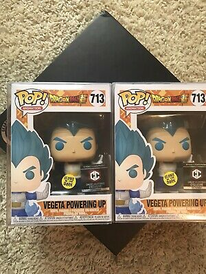 Funko POP! Dragon Ball Super Vegeta Powering Up (GITD) #713 Chalice Collectibles
