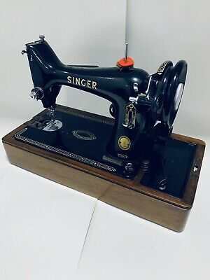 Vintage 1955 Singer Sewing Machine Model 99K Electric Cased + Tools Receipt Etc