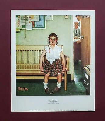 """Norman Rockwell print /""""DISCIPLINARY ACTION/"""" or /""""THE SHINER/"""" gender LGBTQ girl"""