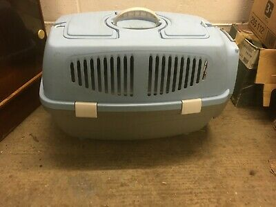Blue Plastic Small Animal Carrier Cat