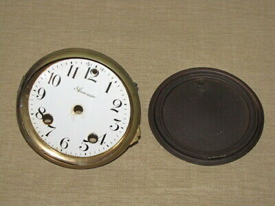 Antique Ansonia Mantle Clock Dial, Bezel & Back Door Cover Parts
