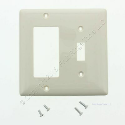 Hubbell Light Almond UNBREAKABLE Toggle Switch Decorator Cover Wallplate NP126LA