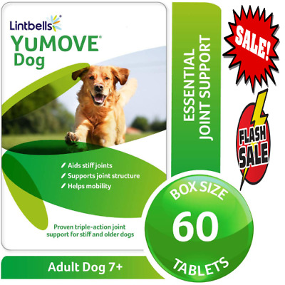 New Dog Yumove 60 Tablets Joint Lintbells Supplement Stiff Dogs Support Chewable