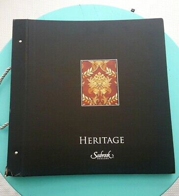 Seabrook Heritage Dogwood, Cameos, French Scrolls, Wallpaper Sample Book