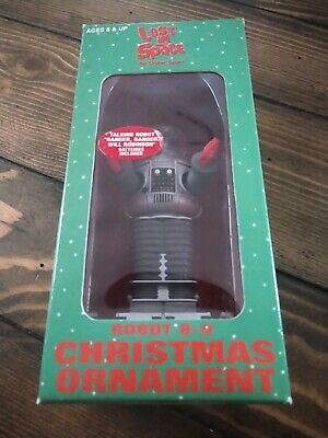1997 Lost In Space Robot Christmas Ornament B9 Sealed In Box Talking Danger!