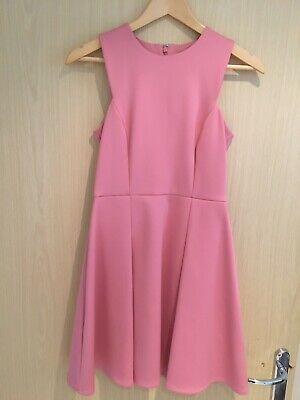 Pale Pink Marks and Spencer Limited Edition A Line Pleated Skater Dress Size 8