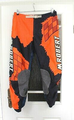 M.Robert Classic Motocross MX Enduro Hose Pants orange / blau Größe 34 Inch
