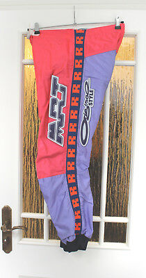 M.Robert Classic Motocross MX Enduro Hose Pants orange / lila Größe 28 (30) Inch