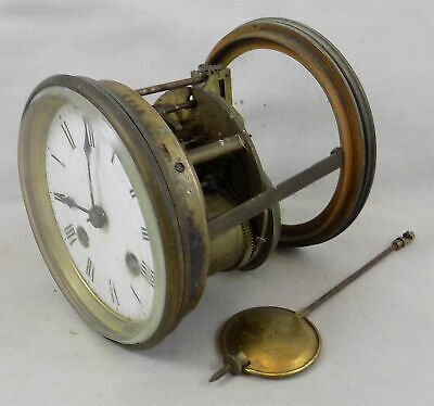 Japy Freres Bell Striking French Clock Movement, Dial, Hands & Glazed Rear Door